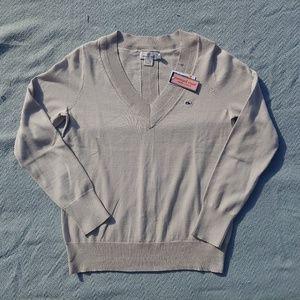 NWT Vineyard Vines Heritage Cotton V-Neck Sweater